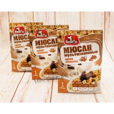 Мюсли с шоколадом и орехами мультизлаковые
