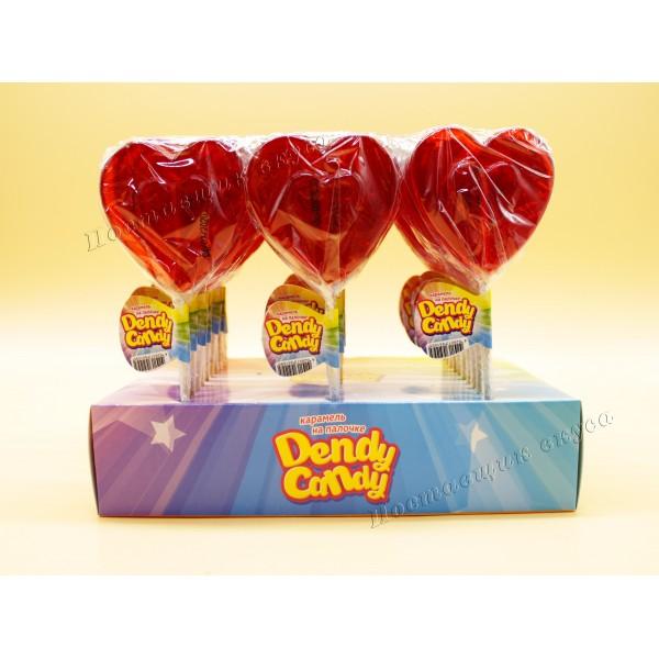 Леденцовая карамель на палочке Сердечко Dendy Candy