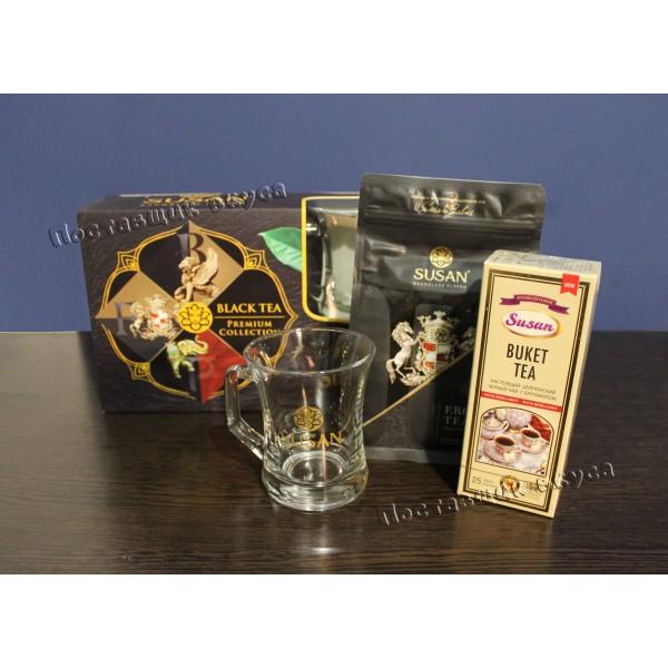 Подарочный набор черного чая Susan с кружкой